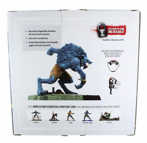 "Killer Instinct Series 1 6"" Collectible Figure: Sabrewulf Perspective: back"