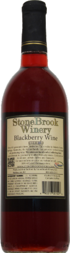 Stonebrook Winery Blackberry Wine Perspective: back
