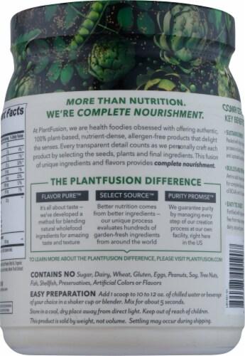 PlantFusion® Vanilla Bean Plant Protein Powder Perspective: back