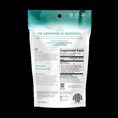 OM Fit Organic Mushroom Nutrition Supplement Powder Perspective: back