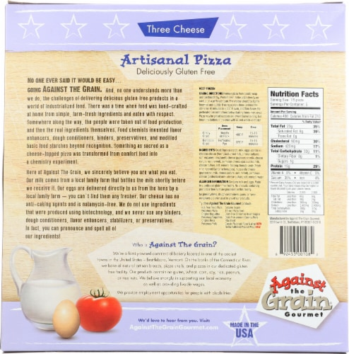 Against the Grain Gourmet Gluten Free Three Cheese Pizza Perspective: back
