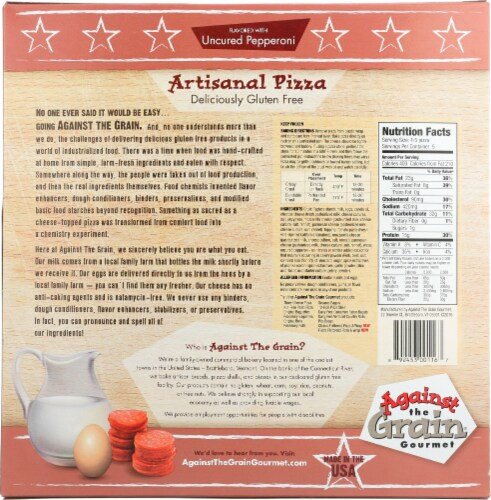 Against the Grain Gourmet Gluten Free Pepperoni Pizza Perspective: back
