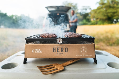 Fire & Flavor HERO Portable Charcoal Grill Perspective: back