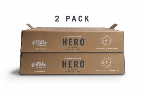 Fire & Flavor HERO Charcoal Grill Pod Refills Perspective: back