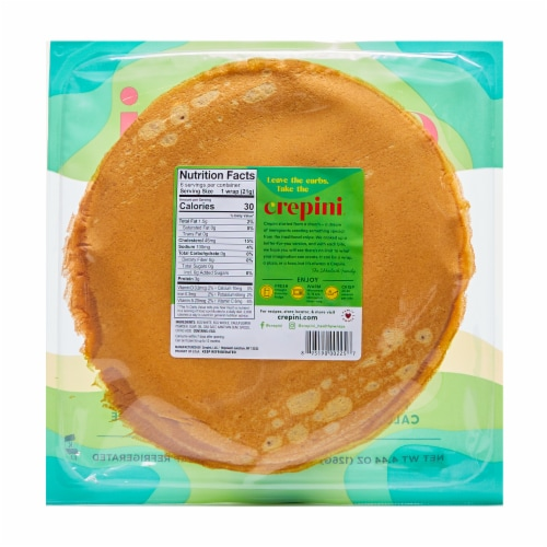 Crepini Cauliflower Grande Egg Wraps 6 Count Perspective: back