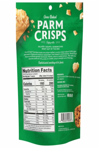 ParmCrisps® Jalapeno Parmesan Crisps Snacks Perspective: back