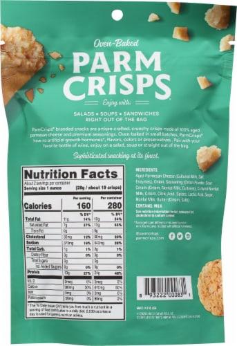 ParmCrisps Sour Cream & Onion Parmesan Keto Crisps Snacks Perspective: back