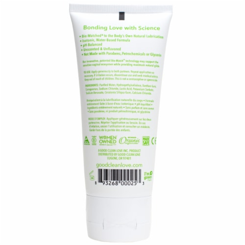Good Clean Love BioNude Ultra Sensitive Natural Moisturizing Personal Lubricant Perspective: back