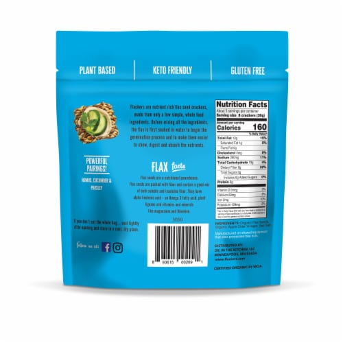 Doctor In The Kitchen  Flackers® Organic Flax Seed Sea Salt Crackers Perspective: back