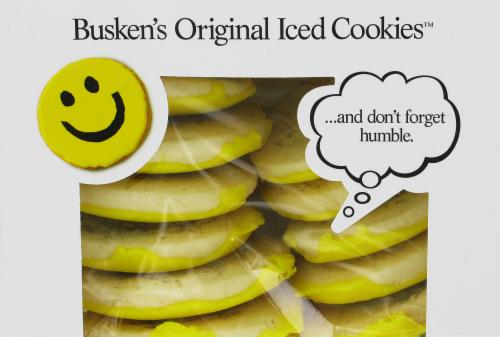 Busken's Seasonal Iced Cookies Perspective: back