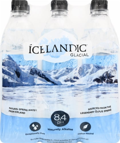 Icelandic Glacial Naturally Alkaline Spring Water Perspective: back