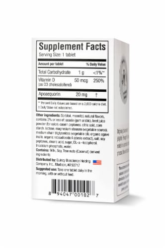 Prevagen Extra Strength Mixed Berry Chewable Tablets Perspective: back