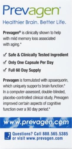 Prevagen® Regular Strength Memory Dietary Supplement Capsules 10mg Perspective: back
