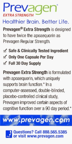 Prevagen® Extra Strength Memory Dietary Supplement Capsules 20mg Perspective: back