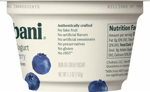 Chobani® Blueberry on the Bottom Non-Fat Greek Yogurt Perspective: back