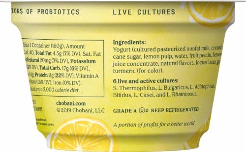 Chobani Lemon & Cream Blended Greek Yogurt Perspective: back