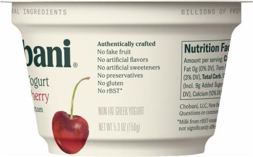 Chobani® Black Cherry on the Bottom Greek Yogurt Perspective: back