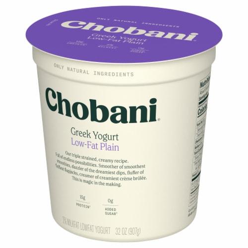 Chobani® Low-Fat Plain Greek Yogurt Perspective: back