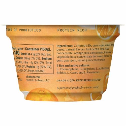 Chobani® Orange & Cream Blended Greek Yogurt Perspective: back