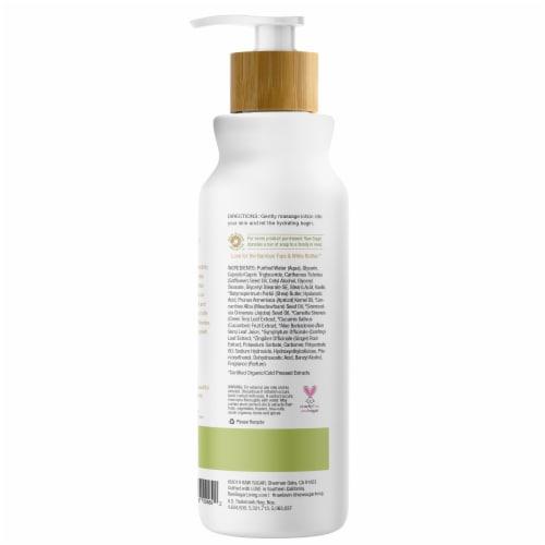 Raw Sugar Sensitive Skin Green Tea + Cucumber + Aloe Vera Ultra Nourishing Body Lotion Perspective: back