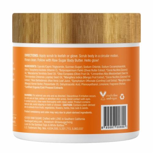 Raw Sugar Living Raw Coconut and Mango Sugar Scrub Perspective: back