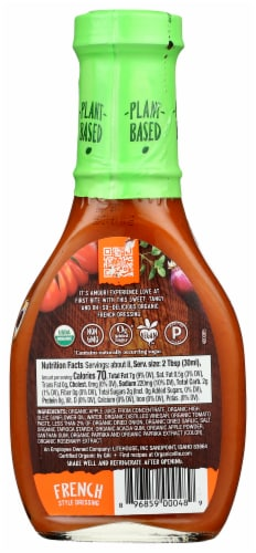 OrganicVille French Organic Dressing Made with Agave Nectar Perspective: back