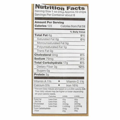 Flamous Falafel Chip - Low Sodium - Case of 12 - 8 oz. Perspective: back