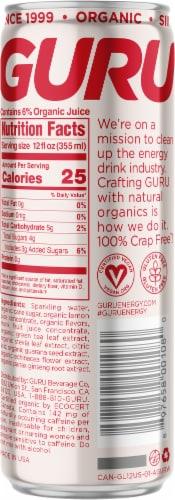 Guru Lite Energy Drink Perspective: back