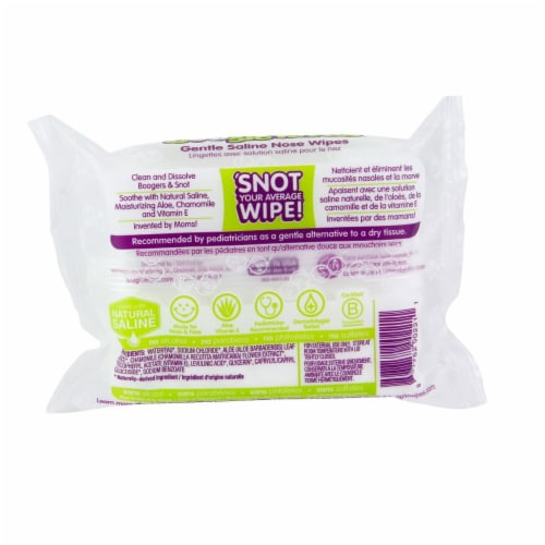 Boogie Wipes Simply Unscented Saline Wipes Perspective: back