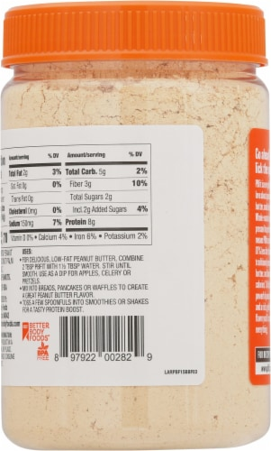 BetterBody Foods PBfit Peanut Butter Powder Perspective: back