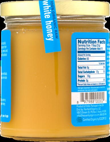 Heavenly Organics Raw White Honey Perspective: back
