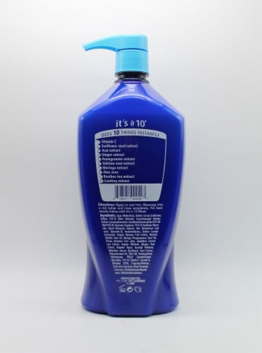 It's a 10 Miracle Moisture Shampoo Perspective: back