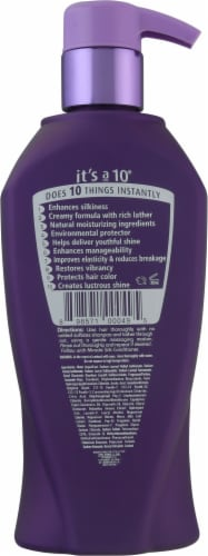 It's a 10 Silk Express Miracle Silk Shampoo Perspective: back