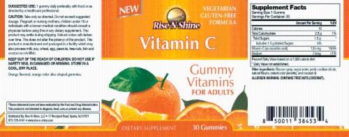 Rise-N-Shine Vitamin C Gummy Vitamins-30Count Perspective: back