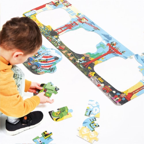 Looong Puzzle Construction Site age 3+ Perspective: back