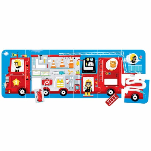 Make-a-Match Puzzle Fire Truck 2+ Perspective: back