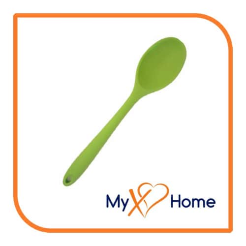 My XO Home Silicone Kitchen Cooking Tools (Green Spoon) Perspective: back
