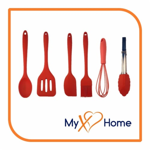 My XO Home Silicone Kitchen Cooking Tools -Red Set of 6 Perspective: back