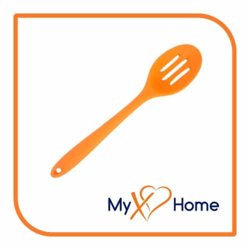 My XO Home Silicone Kitchen Cooking Tools (Orange Slotted Spoon) Perspective: back