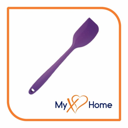 My XO Home Silicone Kitchen Cooking Tools (Purple Spatula) Perspective: back