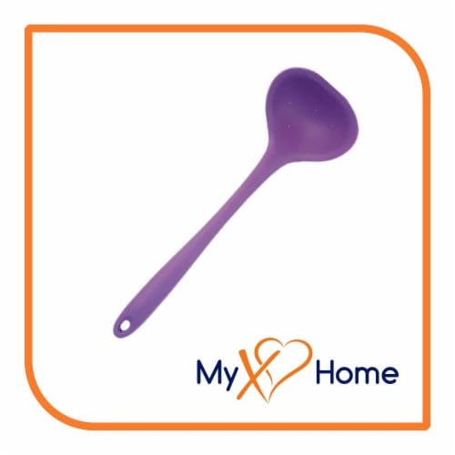 My XO Home Silicone Kitchen Cooking Tools (Purple Ladle) Perspective: back