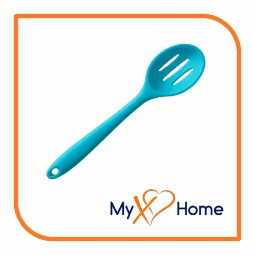 My XO Home Silicone Kitchen Cooking Tools (Light Blue Slotted Spoon) Perspective: back
