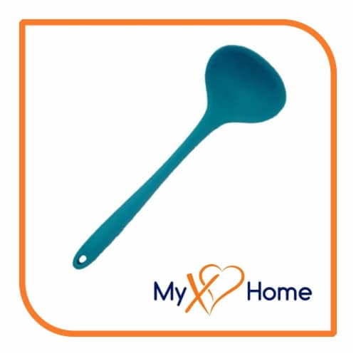 My XO Home Silicone Kitchen Cooking Tools (Light Blue Ladle) Perspective: back