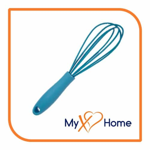 My XO Home Silicone Kitchen Cooking Tools (Light Blue Whisk) Perspective: back