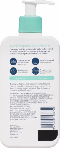 CeraVe® Oil Control Foaming Facial Cleanser Perspective: back