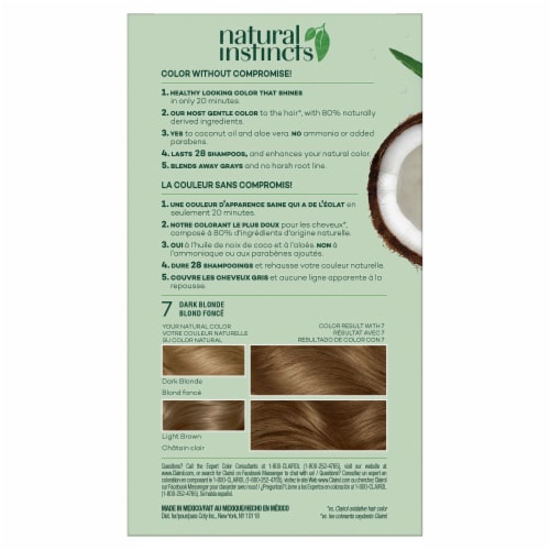 Clairol Healthy Looking Natural Instincts 7 Dark Blonde Hair Color Perspective: back