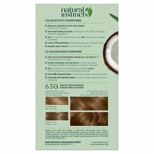 Clairol Healthy Looking Natural Instincts 6.5G Lightest Golden Brown Hair Color Perspective: back