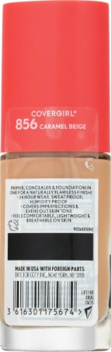 CoverGirl Outlast Extreme Wear 856 Caramel Beige Foundation Perspective: back