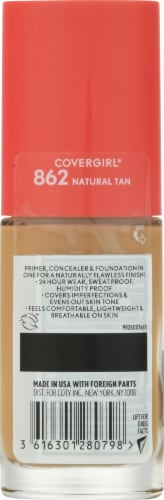 CoverGirl Outlast Extreme Wear 862 SPF 18 Natural Tan Foundation Perspective: back