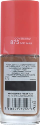 CoverGirl Outlast Extreme Wear 875 Soft Sable Foundation Perspective: back